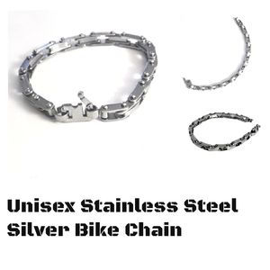 Other - Unisex Stainless Steel Silver Bike Chain